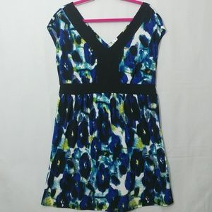 Duo Maternity Floral Sleeveless Dress Tunic Top